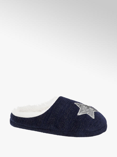 Casa mia Ladies Star Mule Slippers