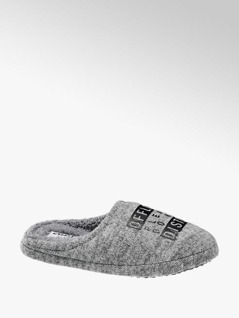 Casa mia Mens Casa Mia Grey Mule Slippers