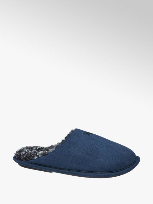 Casa mia Mens Casa Mia Dark Blue Knitted Mule Slipper