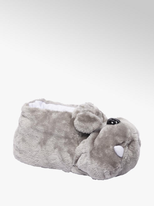 Casa mia Mens Grey Novelty Dog Slipper