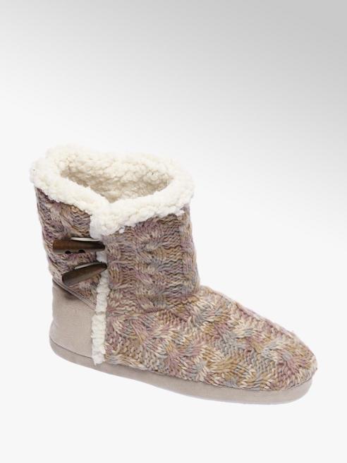 Casa mia Beige pantoffel warmgevoerd