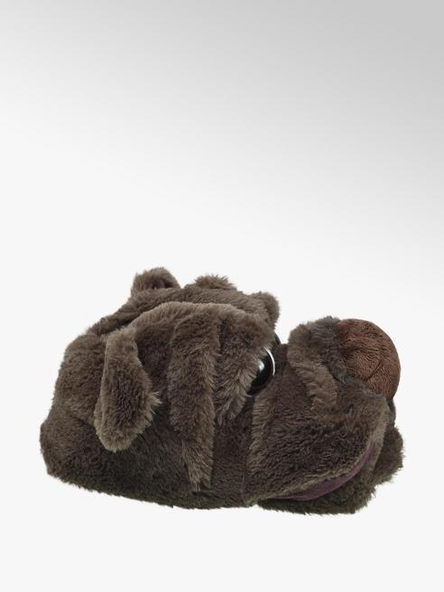 Casa mia Bruine hond pantoffel