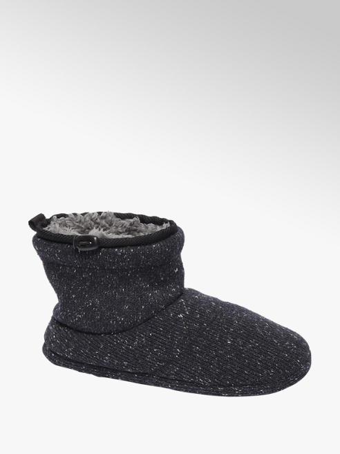 Casa mia Zwarte warmgevoerde pantoffel