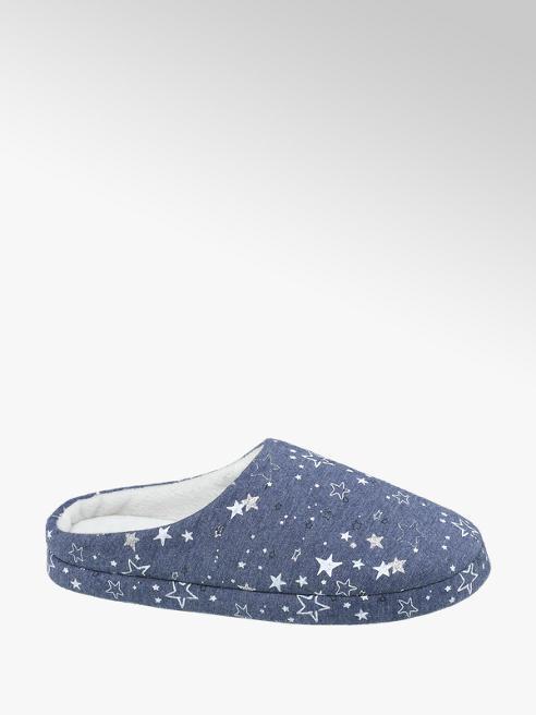 Casa mia Ladies Star Print Mule Slippers