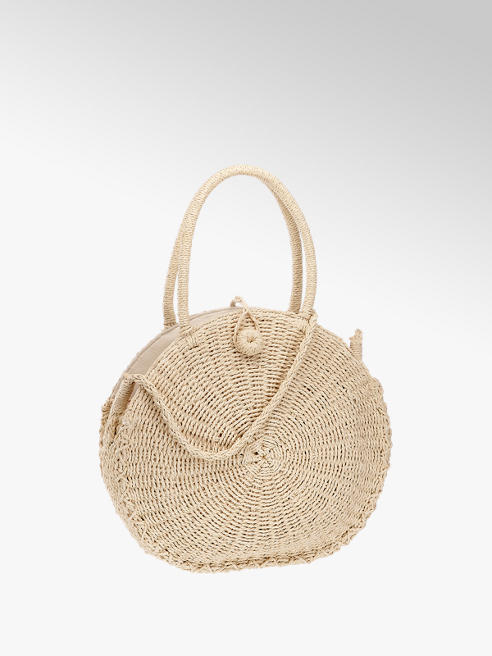 Catwalk Handtasche in Beige in Bast-Optik