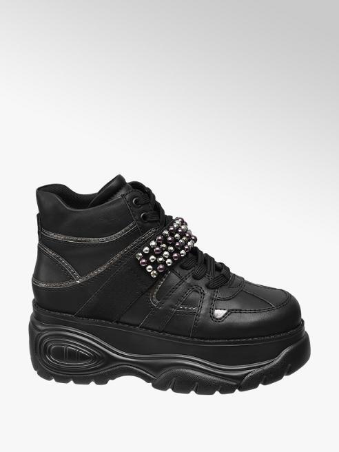 Black Platform Lace-up Trainers
