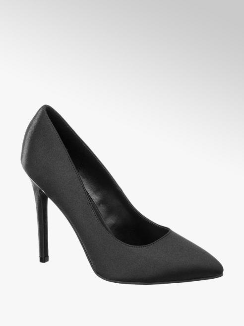 Catwalk Black Pointed Toe High Heels