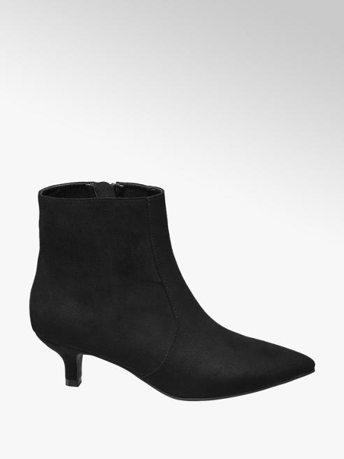 Catwalk Black Kitten Heel Boots