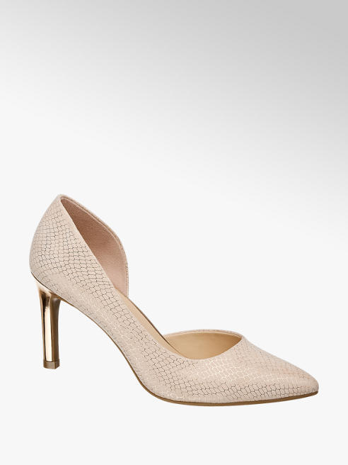 Catwalk Pink Metallic Court shoes