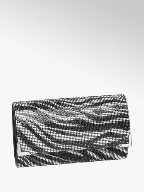 Catwalk Black and White Zebra Clutch Bag