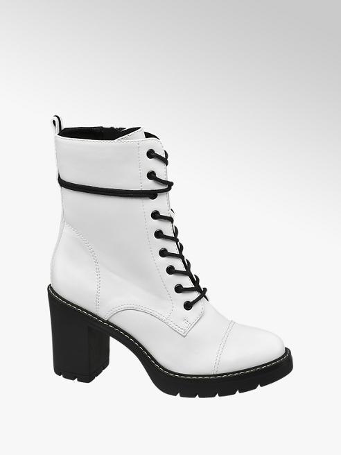 Catwalk Schnürstiefeletten in Weiß