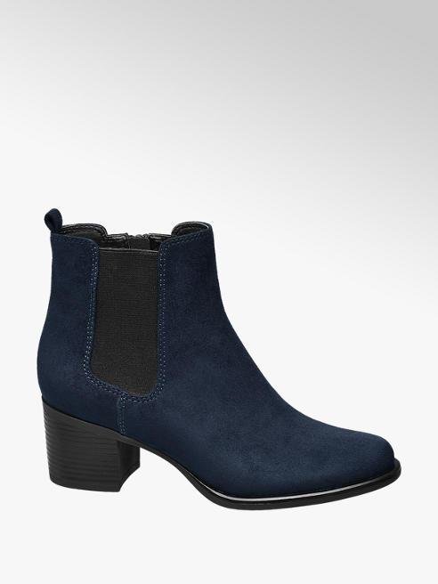 Graceland Chelsea boot blu con tacco