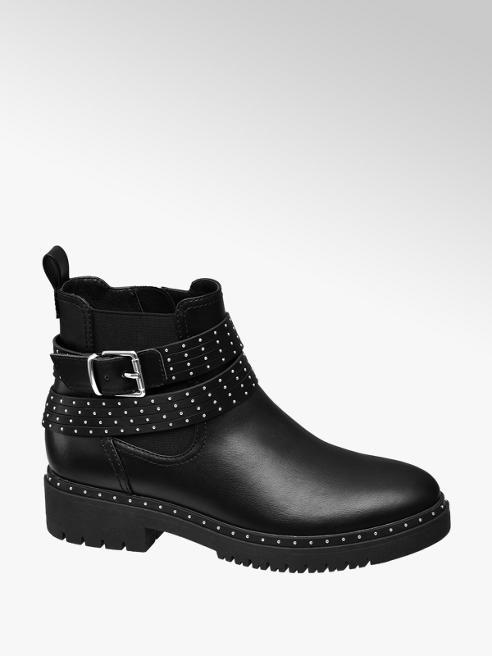 Catwalk Chelsea boot con fibbia e borchie