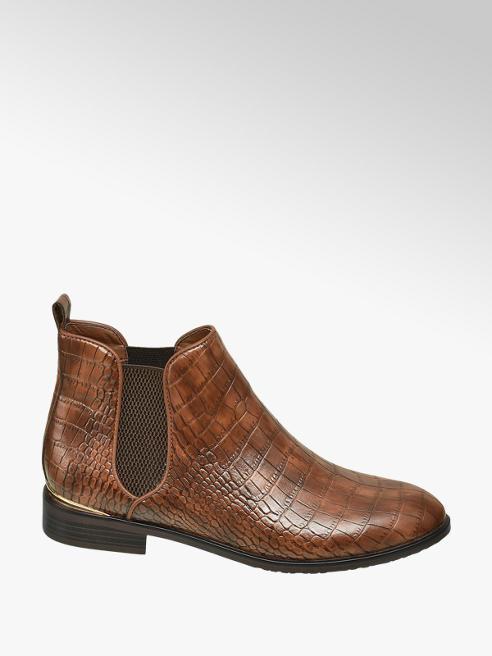 Catwalk Chelsea boot marrone pitonata