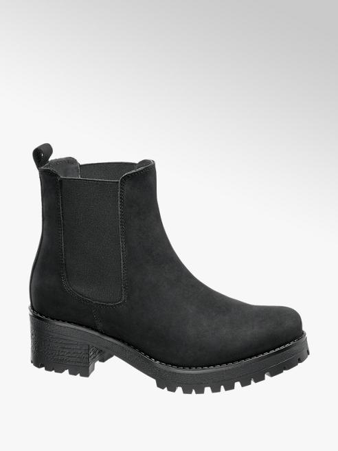 5th Avenue Chelsea boot nero con suola alta