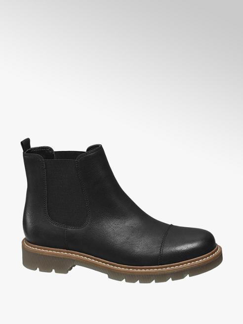Catwalk Chelsea boot nero con suola in gomma