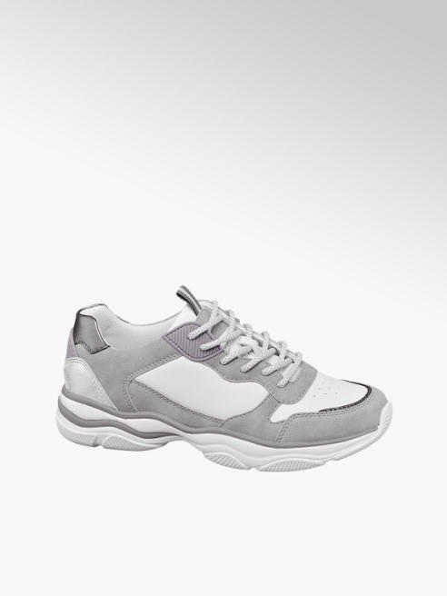 Graceland Chunky sneaker bianca e grigia