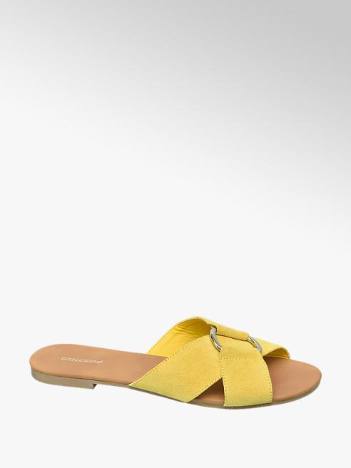 Graceland Citromsárga női papucs
