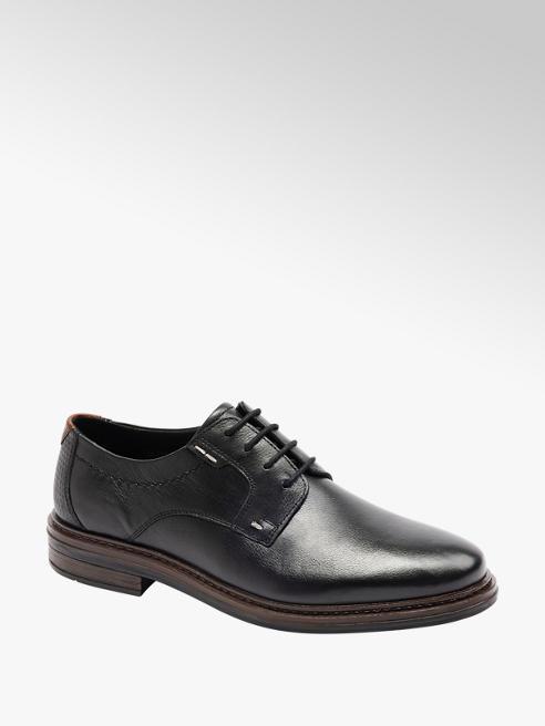 Claudio Conti Mens Claudio Conti Black Leather Lace-up Shoes