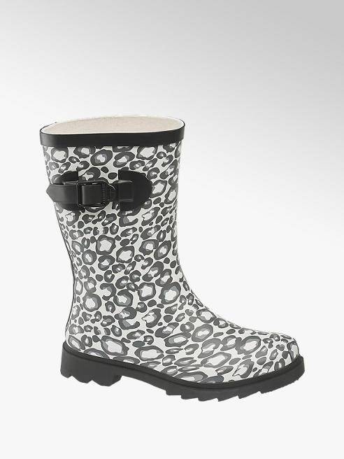 Cortina Gummistiefel in Grau mit Animal-Print