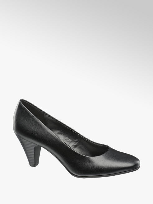 Graceland Black Court Shoes