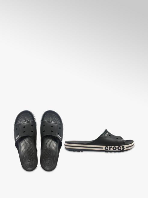 Crocs Ladies Black Croc Slides