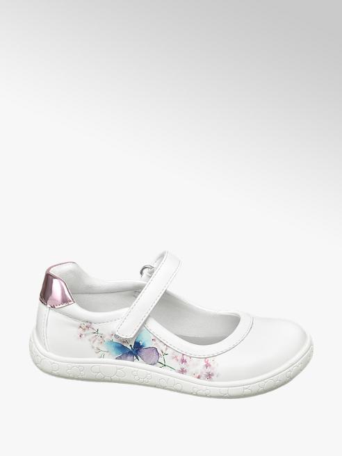 Cupcake Couture Ballerinas in Weiß mit Metallic Element
