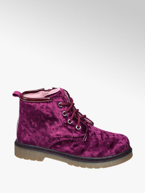 Cupcake Couture Bordeaux velvet veterboot