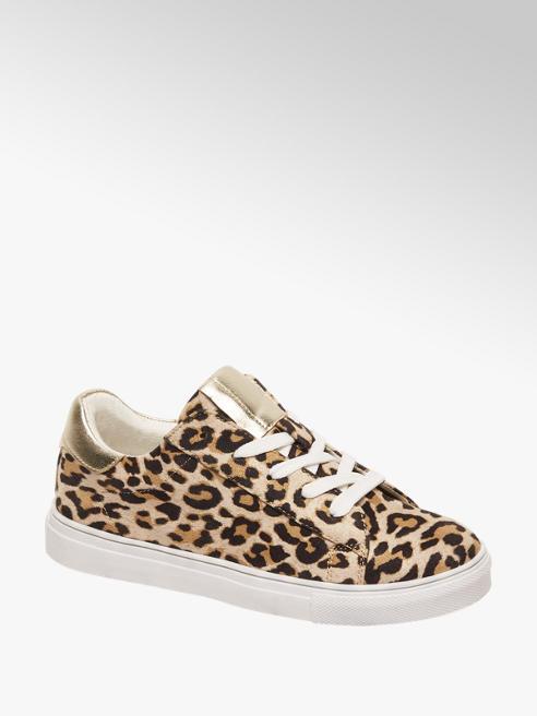 Cupcake Couture Bruine sneaker leopard