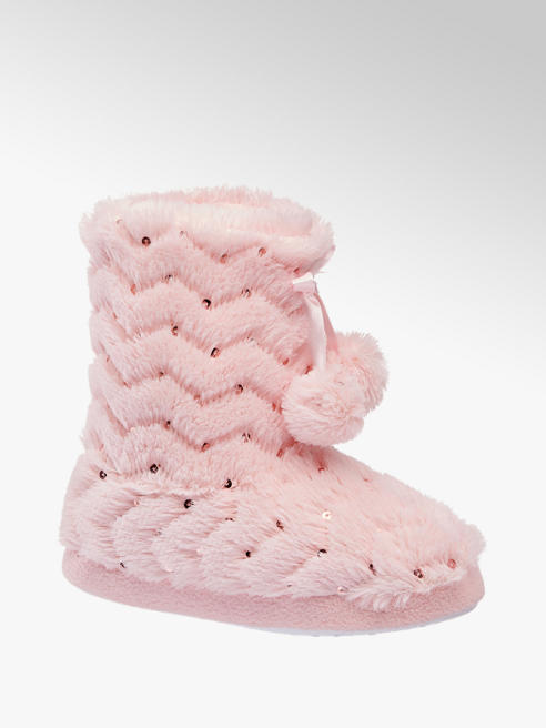 Cupcake Couture Gefütterte Hausschuhe in Rosa