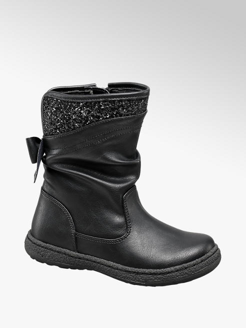 Cupcake Couture Toddler Girl Black Glitter Boot