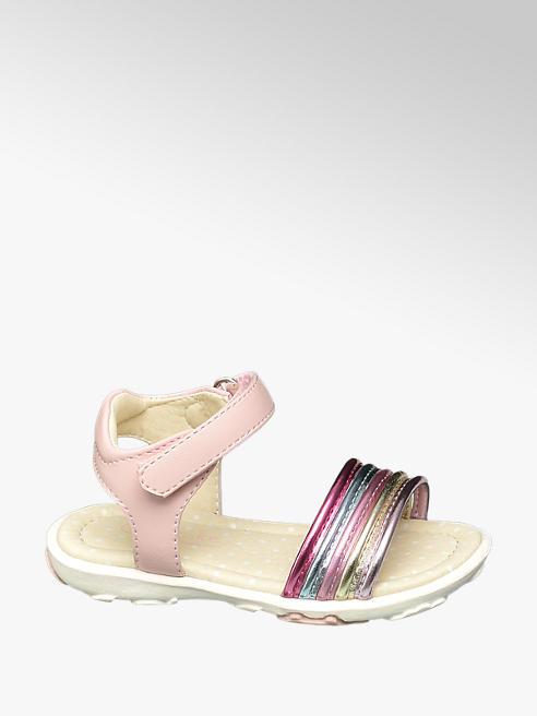 Cupcake Couture Toddler Girls Pink Metallic Rainbow Sandals