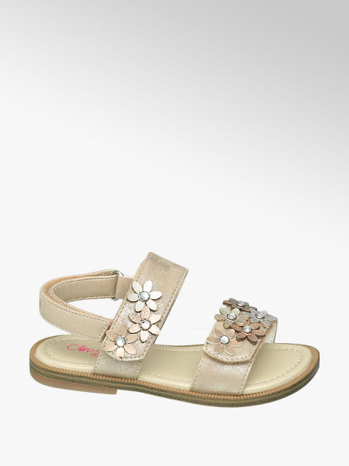 Cupcake Couture Gouden sandaal bloemetjes