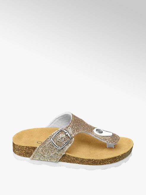 Cupcake Couture Gouden slipper met gliters