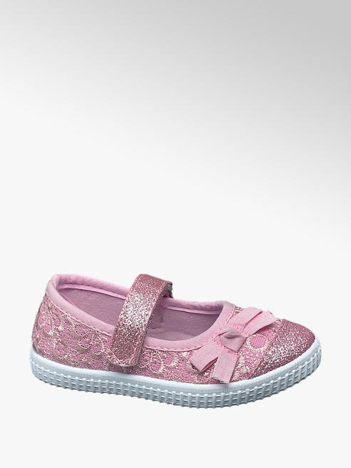 Cupcake Couture Hausschuhe in Rosa mit Glitzer-Look