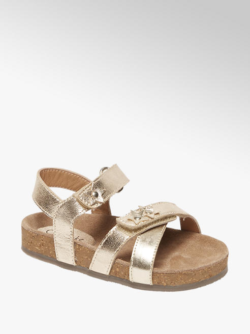 Cupcake Couture Metallic gouden sandaal klittenbandsluiting