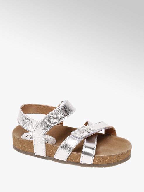 Cupcake Couture Metallic zilveren sandaal klittenbandsluiting