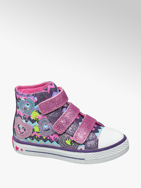 Cupcake Couture Paarse halfhoge sneaker glitters