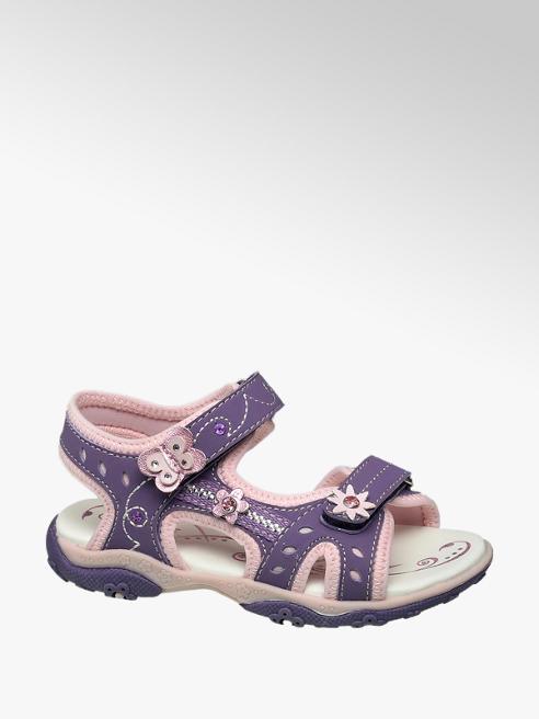 Cupcake Couture Paarse sandaal klittenbandsluiting