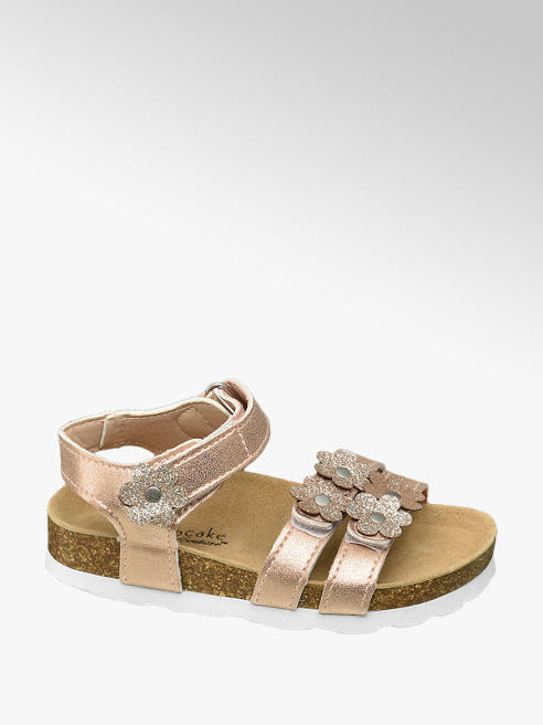 Cupcake Couture Rose gouden sandaal klittenbandsluiting