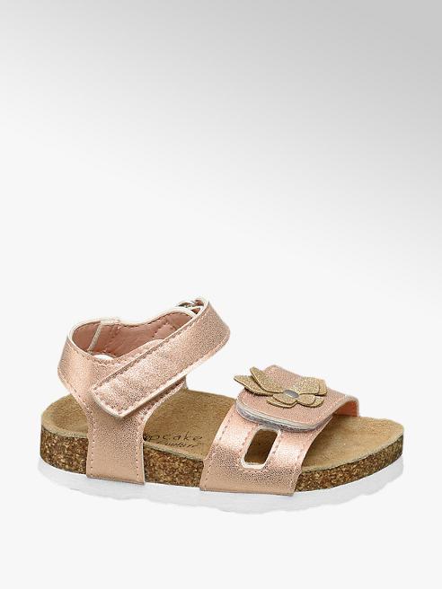 Cupcake Couture Rosègouden sandaal leren voetbed