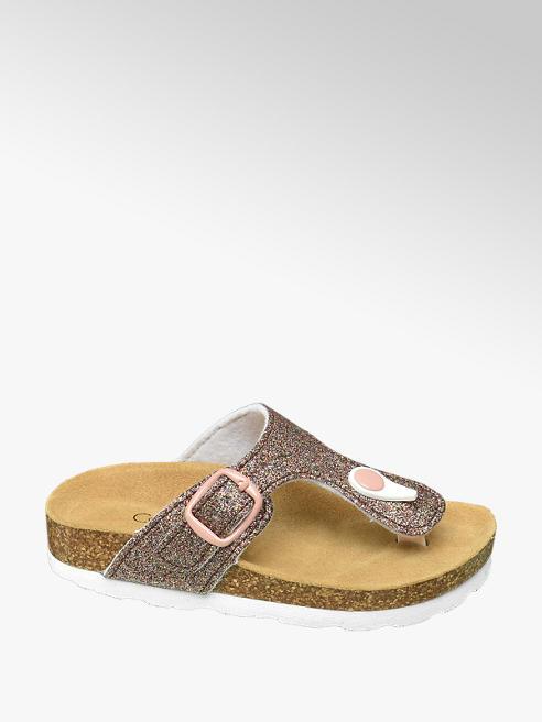 Cupcake Couture Roze slipper met glitters