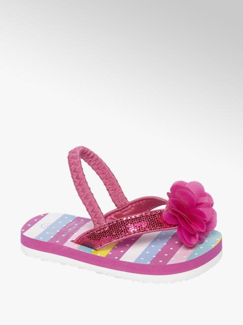 Cupcake Couture Roze teenslipper bloem