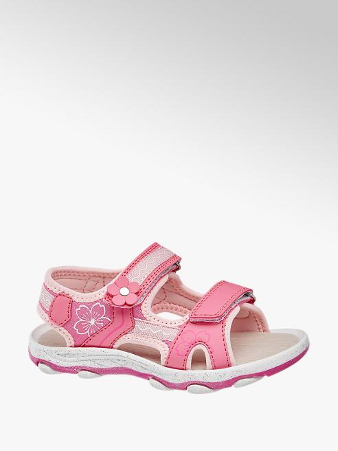 Cupcake Couture Sandalen in Pink mit Blumendetails