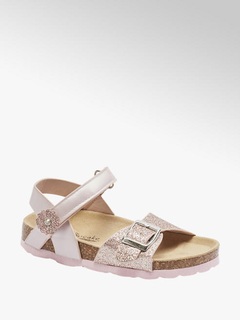 Cupcake Couture Sandalen in Rosa mit Glitzer Details