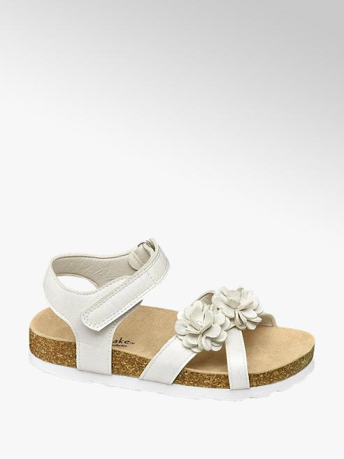 Cupcake Couture Sandalen in Weiß mit Blumendetails