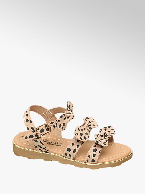 Cupcake Couture Toddler Girl Leopard Print Bow Sandals