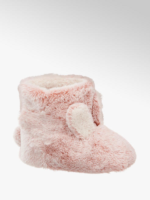 Cupcake Couture Toddler Girl Pink Bunny Ear Boot Slippers