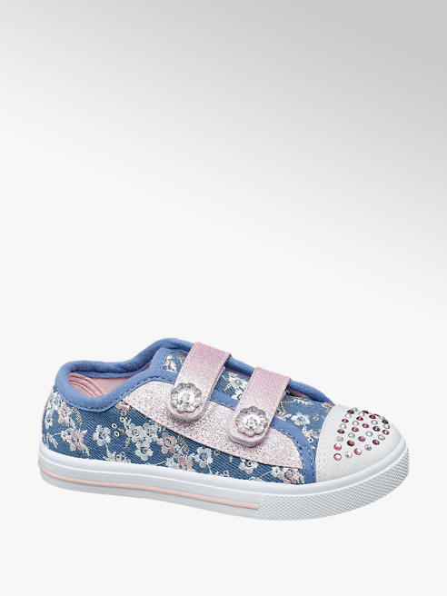Cupcake Couture Toddler Girl Embellished Toe Canvas