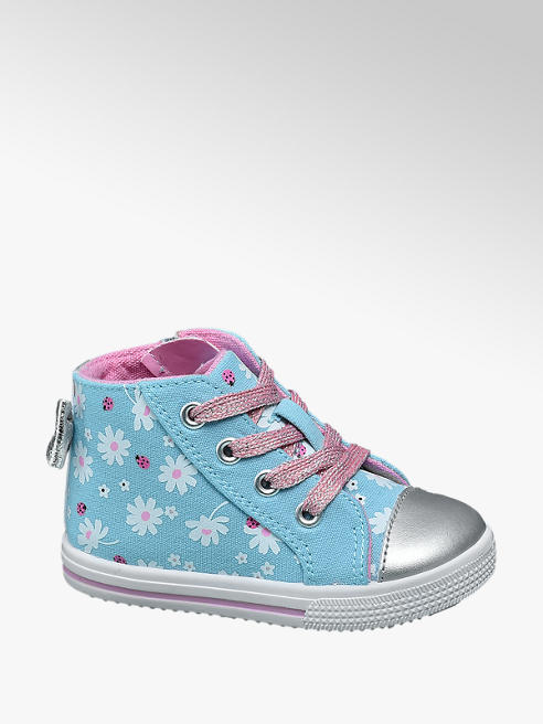 Cupcake Couture Toddler Girl Flower & Lady Bird Print Hi-Top Canvas